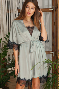 Халат «Илина» оливкового цвета