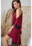 Халат «Іліна» кольору бордо