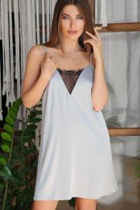 Нічна сорочка «Дайна» сіро-блакитного кольору