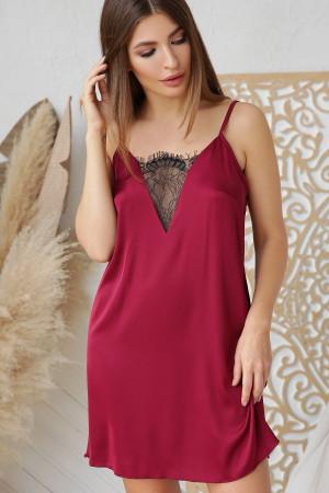 Нічна сорочка «Дайна» кольору бордо