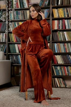Домашній костюм «Нана» теракотового кольору