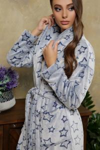 Халат «Феліче» синього кольору, довгий