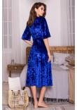 Халат «Рита» яскраво-синього кольору