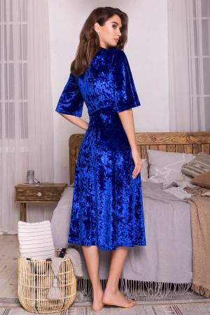 Халат «Рита» ярко-синего цвета