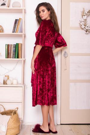 Халат «Рита» цвета бордо