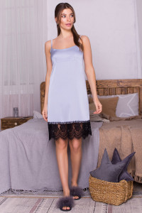 Ночная рубашка «Одетта» серо-голубого цвета
