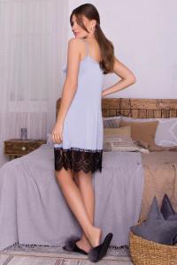 Нічна сорочка «Одетта» сіро-блакитного кольору