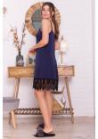 Нічна сорочка «Одетта» синього кольору