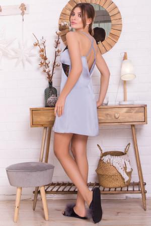 Нічна сорочка «Ліора» сіро-блакитного кольору