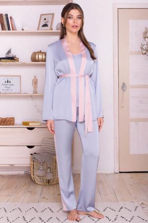 Домашний комплект «Ребекка» серо-голубого цвета с пудровым