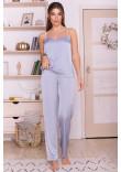 Домашній комплект «Ребекка» сіро-блакитного кольору з пудровим