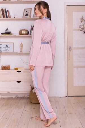Домашний комплект «Ребекка» цвета пудры с серо-голубым