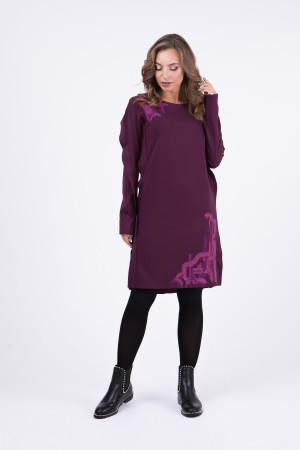Сукня «Тересса» бордового кольору