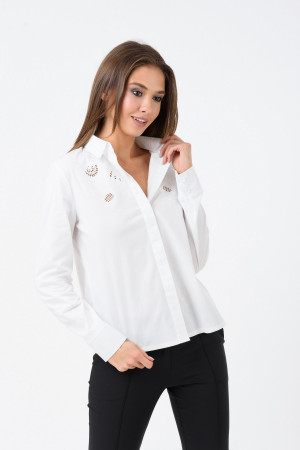 Блуза «Кайса» білого кольору