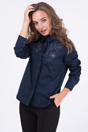 Блуза «Кайса» синього кольору