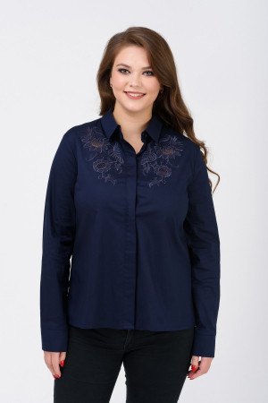 Блуза «Кайса» синего цвета