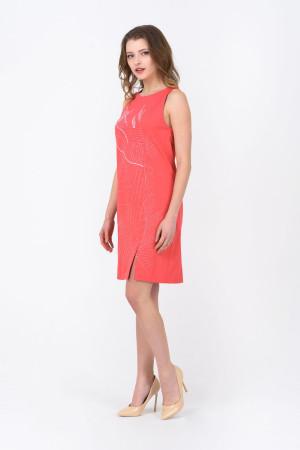 Платье «Мишлен» кораллового цвета