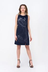 Сукня «Мішлен» темно-синього кольору