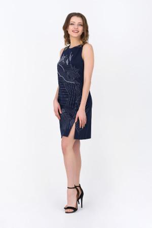 Платье «Мишлен» темно-синего цвета