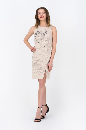 Платье «Мишлен» бежевого цвета