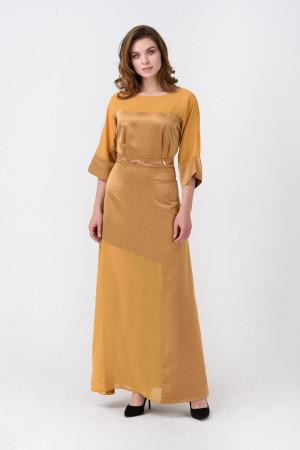 Платье «Дэзире» горчичного цвета