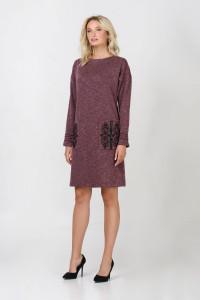 Сукня «Веліна» бордового кольору