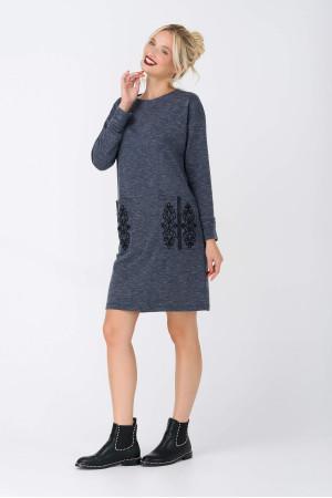 Платье «Велина» серого цвета