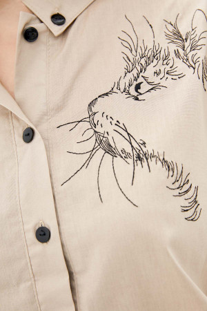 Блуза «Лима» бежевого цвета
