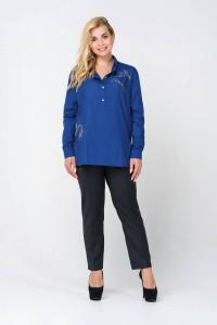 Блуза «Лима» синего цвета