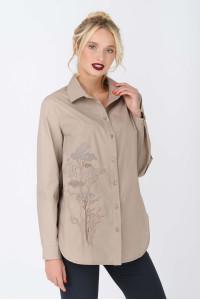 Блуза «Дилис» бежевого цвета