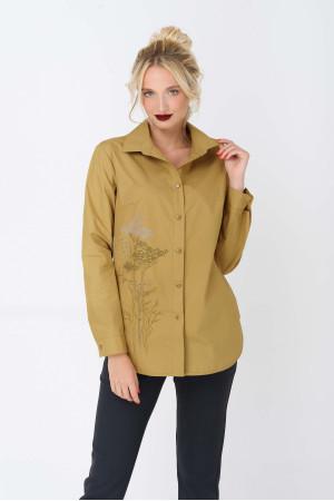 Блуза «Діліс» кольору гірчиці