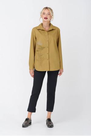 Блуза «Дилис» цвета горчицы
