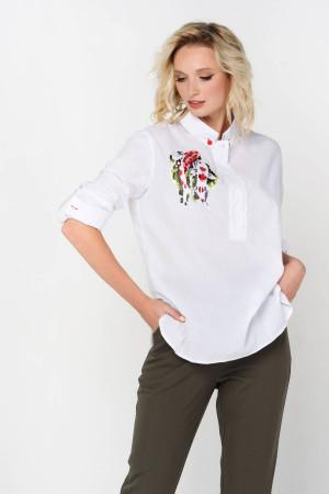 Блуза «Вірен» білого кольору