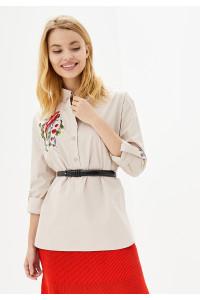 Блуза «Вирен» бежевого цвета