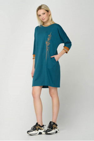 Платье «Дора» зеленого цвета