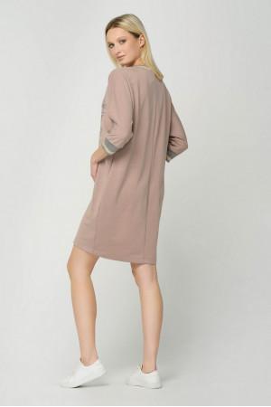 Платье «Дора» бежевого цвета