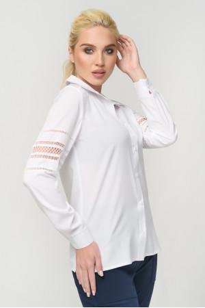 Блуза «Агота» белого цвета