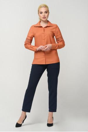 Блуза «Агота» теракотового кольору