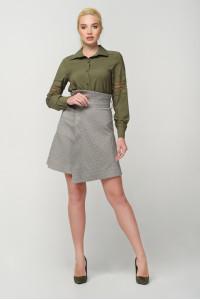 Блуза «Агота» цвета хаки