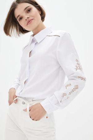 Блуза «Латиша» белого цвета