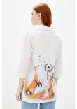 Блуза «Еліка» білого кольору
