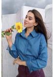 Блуза «Джесс» темно-блакитного кольору