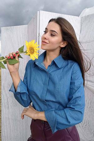 Блуза «Джэсс» темно-голубого цвета