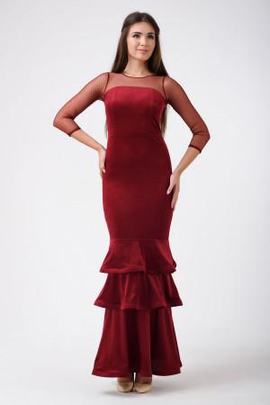 Платье «Глэнфи» бордового цвета