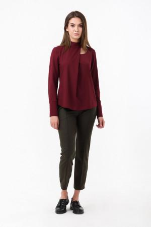 Блуза «Анрі» бордового кольору