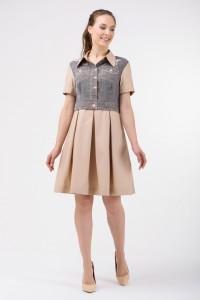 Сукня «Анфіса» бежевого кольору