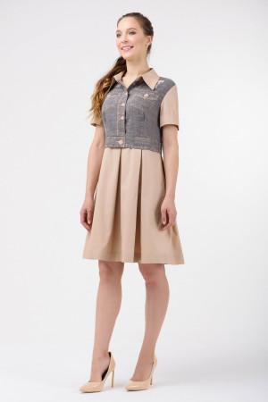 Платье «Анфиса» бежевого цвета