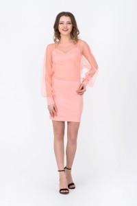 Платье «Флер» персикового цвета