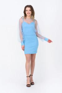 Платье «Флер» голубого цвета