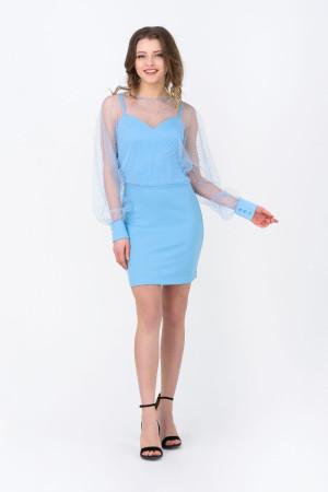 Сукня «Фльор» блакитного кольору